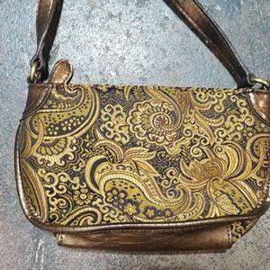 Nine West Bags - Nine West Brocade Leather Crossbody Bag.